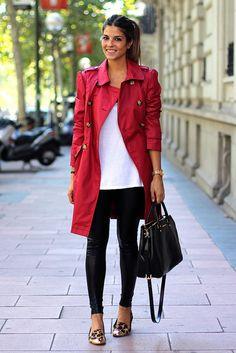 trendy_taste-look-outfit-street_style-AW13-gabardina_roja-red_raincoat-michael_kors-black_leather_handbag-bolso_piel_negro-leo_slippers-slippers_leopardo-leo_print-agatha_paris-jessica_simpson-leather_leggings-leggings_cuero-golden_watch-reloj_dorado-7 by Trendy Taste, via Flickr