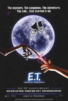 E.T. the Extra-Terrestrial ( 1982) Science fiction film av Steven Spielberg, historien er skrevet av Melissa Mathison. Hvem ble ikke forelsket i E.T? Film som bør sees igjen! Klassiker <3