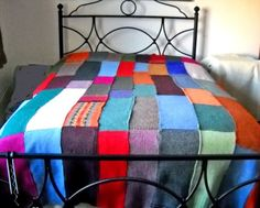 another felted wool sweater blanket