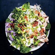 Green Goddess Cobb Salad To make addictively crispy chicken skin, turn it often in the skillet, until it looks like bacon.