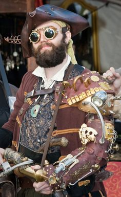 A steampunk pirate?? Okay I'm officially amazed! :D