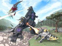 50 ilustraciones de Dinobots, los transformers más brutales - Taringa!
