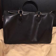 Authentic Louis Vuitton Epi Speedy 30 Authentic LV Black Epi Speedy. Original box but damaged with dust bag. Lock with key. No damages. Louis Vuitton Bags Satchels