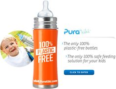 Pura Stainless Steel Water Bottles - Reusable, BPA free, non-leaching and non-toxic stainless steel drinking bottles backed by a lifetime guarantee