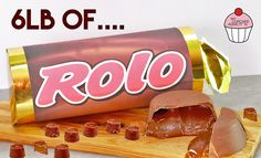 Giant Rolo Candy Bar, Chocolate Rolo Cookies Recipe Snobs, Best Giant Rolo Cake Recipe How to Make a Giant Rolo Cake. Rolo Cake Recipe, Chocolate Bar Recipe, Giant Chocolate, Chocolate Biscuits, Chocolate Truffles, Chocolate Bars, Giant Sweets, Giant Food, Rolo Cookies