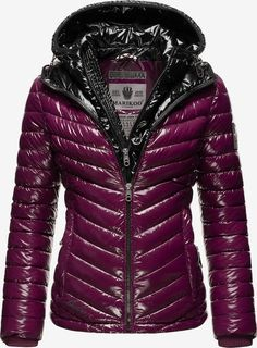 Nylons, Color Blocking, Leather Jacket, About You, Jackets, Material, Products, Fashion, Eggplant