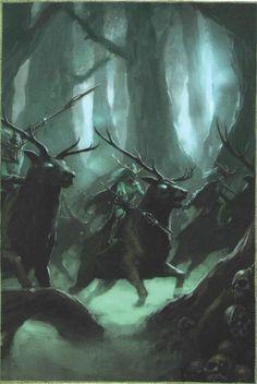 Wild Riders of Kurnous, par Games Workshop, in Warhammer Battle, livre d'armée Wood Elves 8e édition