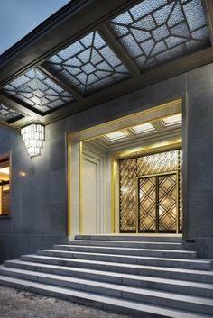 Vista da entrada principal da VillaFoto Georges de Kinder  [Ma²  - Metzger and Partners Architecture]