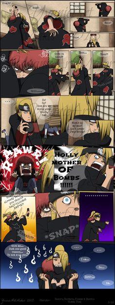 "Naruto Shippuden » Humor » Comic | ""Gimme That"" Page 3/12 | #sasori #deidara [PAGE 1: http://www.pinterest.com/pin/481040803922921950/] [PAGE 4: http://www.pinterest.com/pin/481040803922921968/]"