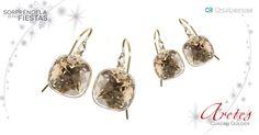 Descubre los diseños que tenemos hechos con plata mexicana y cristales SWAROVSKI en golden el color de esta temporada.