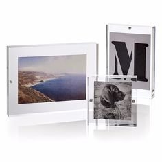 "customized clear acrylic 4""x6"" 5""x7"" 6""x8"" magnet photo frame direct sale"