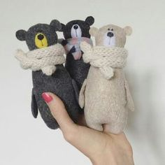 bear toy Your place to buy and sell all things handmade Three little bears Felt Crafts, Kids Crafts, Bear Felt, Teddy Bear Toys, Teddy Bears, Fabric Toys, Sewing Toys, Felt Toys, Stuffed Animal Patterns