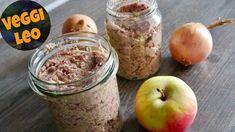 Apfel-Zwiebel Aufstrich - Rezept von Veggi Leo Spinach Leaves, Porridge Oats, Homemade Muesli, Mixed Nuts, No Carb Diets, Healthy Breakfast Recipes, Fresh Herbs, Healthy Fats, Tray Bakes