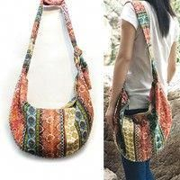 ffbaa50825 Buy 1 PCS Womens Fashion Thai Style Hippie Hobo Shoulder Chest Handbags Large  Crossbody Messenger Bag Floral Print Purse at Wish - Shopping Made Fun