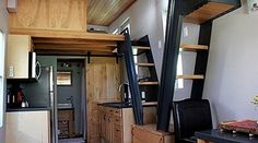 """The interior is finished with water based and no VOC finishes and adhesives, creating an environment that is safe for people with allergies, athsma, and more """"triggered"""" breathing problems. #TinyHouseforUs"""
