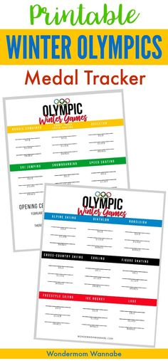 Download a free printable 2018 Winter Olympics Medal Tracker for kids.