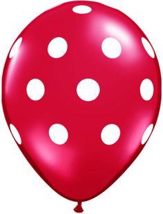 Ballons rot polka dots