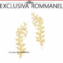 Rommanel Ear Cuff Formato Ramo Brinco Folheado Ouro 525186