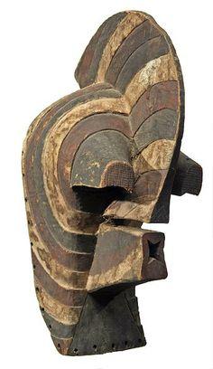 "SONGYE, D.R.Congo Mask kifwebe 23.5"" h  Photographs © Tim Hamill"