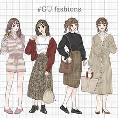 Kpop Fashion Outfits, Anime Outfits, Cute Outfits, Fashion Art, Girl Fashion, Best Friend Drawings, Cute Anime Character, Anime Dress, Fashion Design Sketches