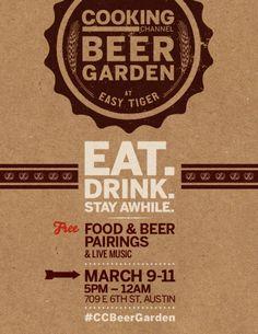 Cooking Channel Beer Garden at Easy Tiger: Fri. Madeira Food, Beer Week, Brewery Design, Beer Pairing, Beer Growler, Home Brewing Beer, Beer Packaging, Logo Food, Wine And Beer