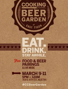 Eat. Drink. Stay Awhile.  Food & Beer Pairings @EasyTigerATX #CCBeerGarden