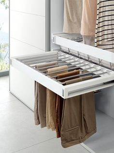 Symmetry Pant Rack Pull-Out Soft Close (600mm Cabinet) -- 141-703092-S