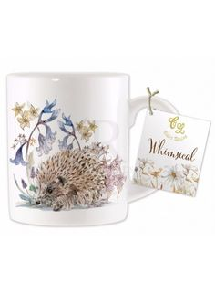 Hedgehog Design China Mug @ rosefields.co.uk
