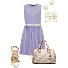 Lavender summer outfit by dqweenb on Polyvore featuring polyvore, fashion, style, Dorothy Perkins, Valentino, MICHAEL Michael Kors, Kate Spade, Forever New and BCBGMAXAZRIA