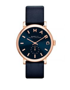 MARC BY MARC JACOBS Womens Baker Rose Gold and Navy Strap Standard | @giftryapp
