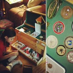 When you're ready for school with time to spare squeeze in some quality family time.  B was barely 3 when I retired from the Navy so she doesn't remember much of my Navy life. She knows what we choose to share and display. This box stored ribbons medals and my favorite military unit coins. So before it goes back into storage or repurposed I'll let her go through it with a child's eyes and curiosity.  #navyvet #armywife #retiredmilitary #retirednotdead #militarylife #militarymemories…