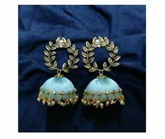 Silk Thread Earrings Designs, Silk Thread Bangles Design, Silk Thread Necklace, Silk Bangles, Antique Jewellery Designs, Fancy Jewellery, Thread Jewellery, Fabric Jewelry, Diy Jewelry Set