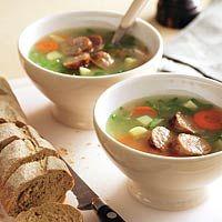 Recept - Gevulde groentemaaltijdsoep  - Allerhande Ramen, Soup, Ethnic Recipes, Log Projects, Soups