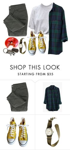 """sidewalk"" by orange-rind ❤ liked on Polyvore featuring Madewell, Converse, J.Crew and AllSaints"