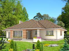DOM.PL™ - Projekt domu HG-H3A CE - DOM AL1-01 - gotowy projekt domu