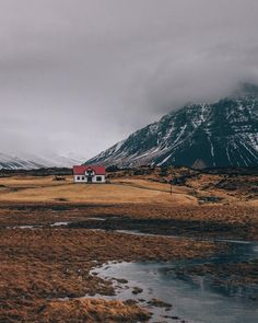 House in the hills vi, Iceland Store Fronts, Iceland, Louvre, Exterior, Mountains, Building, Instagram Posts, Nature, Travel