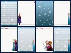 Cuaderno de Frozen para Imprimir Gratis.