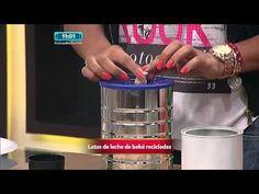 Como lo hago - Decoración con latas de Leche - YouTube