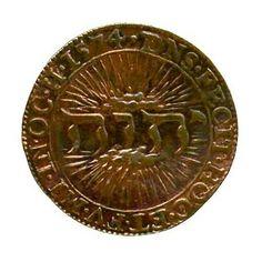 1574 coin with #Tetragrammaton (God's Name Jehova) made in Dordrecht