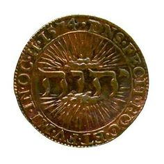 1574 coin with #Tetragrammaton (God's Name Jehova) made in Dordrecht