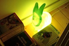 Green rabbit lamp by seenonthestreet, via Flickr