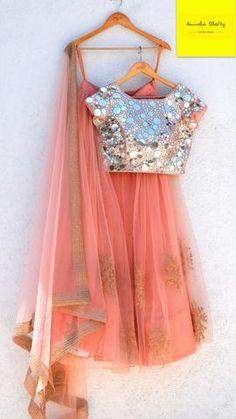 82940bae1a16fe Anisha Shetty Collection. Pakistani OutfitsIndian OutfitsPakistani ClothingPink  LehengaLehenga CollectionMirror Work BlousePink ...