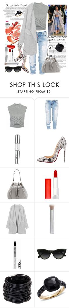 """""""'My' Street Style"""" by loves-elephants ❤ liked on Polyvore featuring Urban Decay, Dsquared2, Clinique, Christian Louboutin, Vince Camuto, Maybelline, Bare Escentuals, Saachi and Pomellato"""