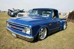 Badass! 1967 Chevy C10, C10 Trucks, Chevy Pickup Trucks, Classic Chevy Trucks, Hot Rod Trucks, Chevrolet Trucks, Classic Cars, Chevy Stepside, Chevy Pickups