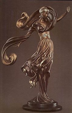 Erte sculpture - Flames of Love