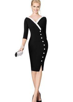 O vestido midi aposta em decote princesa e shape tubinho. É uma peça muito elegante, perfeita para compor aquele look incrível pra usar no escritório.