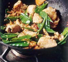 Lemon & chilli sesame pork with mangetout