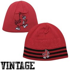 24a02a56ae7 adidas Louisville Cardinals Retro Mascot Logo Reversible Knit Hat - Red