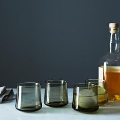 For the whiskey lover. #handblown #tumblers #glass #smoky #food52 #holiday #gift #guide