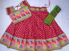 Navratri chaniya choli Red with embroidery work by mfussion